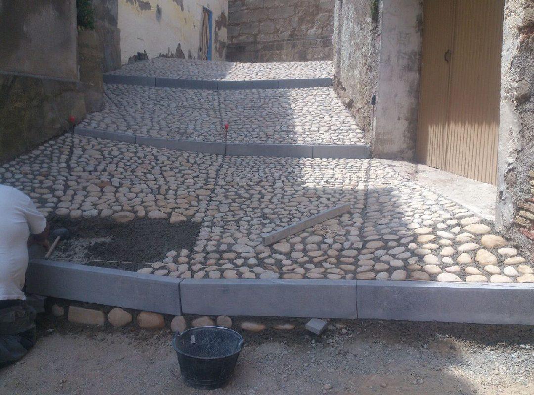 Reforma de pavimentación en Bolea