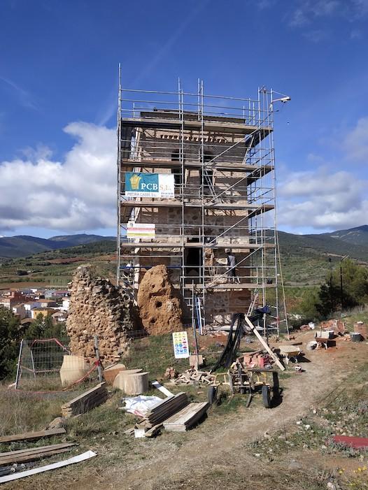 Restauración Torre Lisata en Cosuenda.