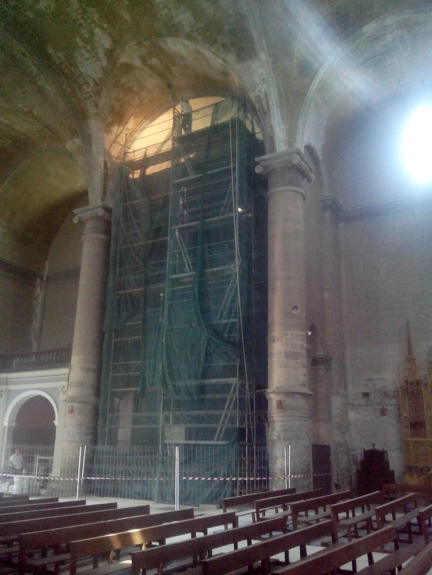 Reparación bóveda en Iglesia Nuestra señora de la Asunción en Leciñena.