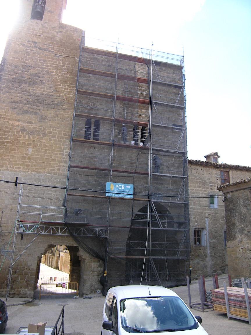 Intervención en la fachada norte de la Torre del señorío de Erla.